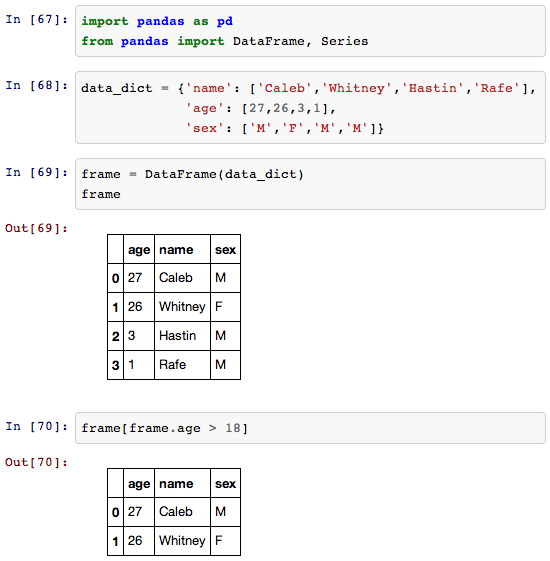 ipython notebook screenshot