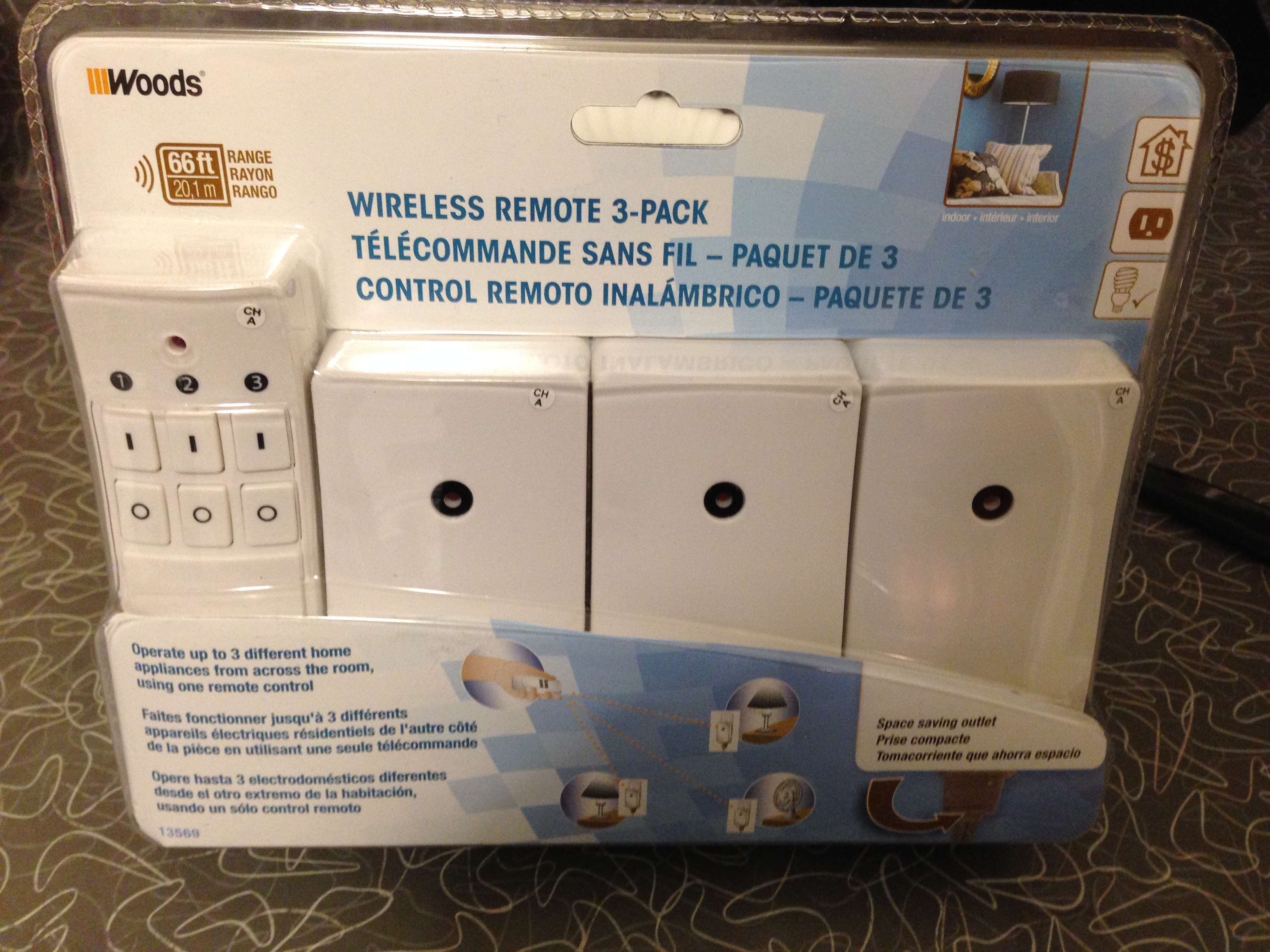 Unopened remote-controlled outlet kit