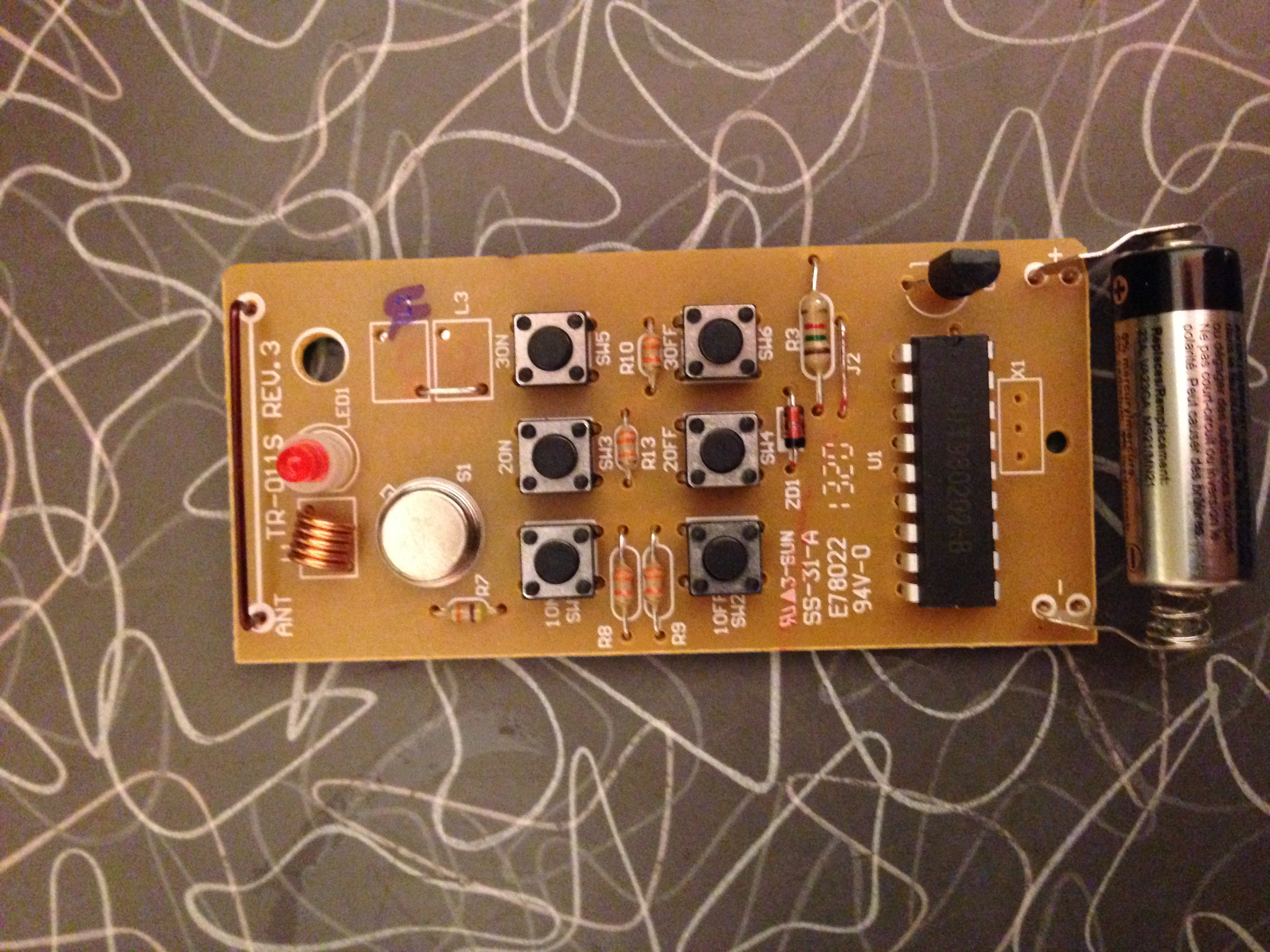 Board taken out of remote controller 2