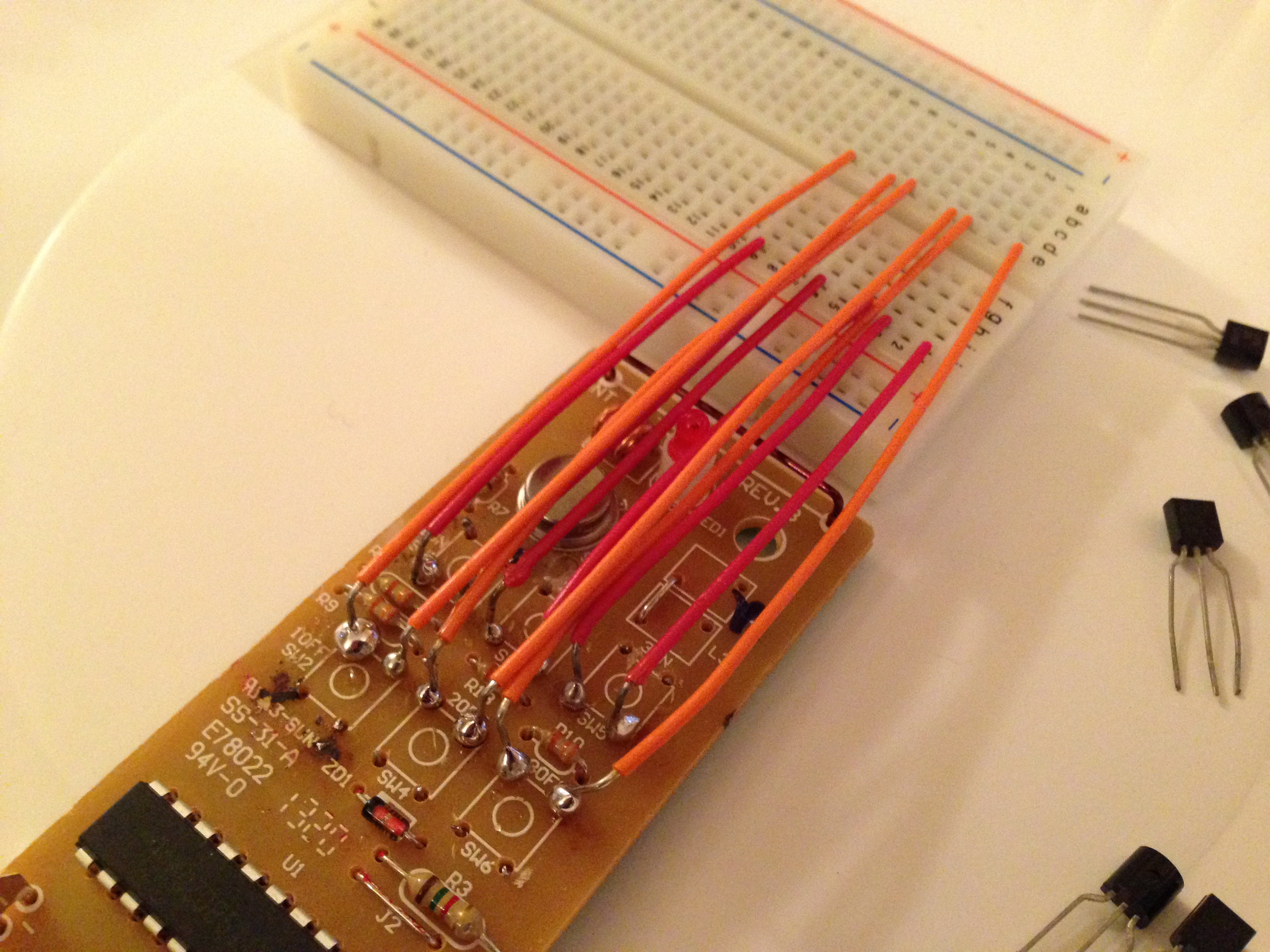 Soldered remote controller board