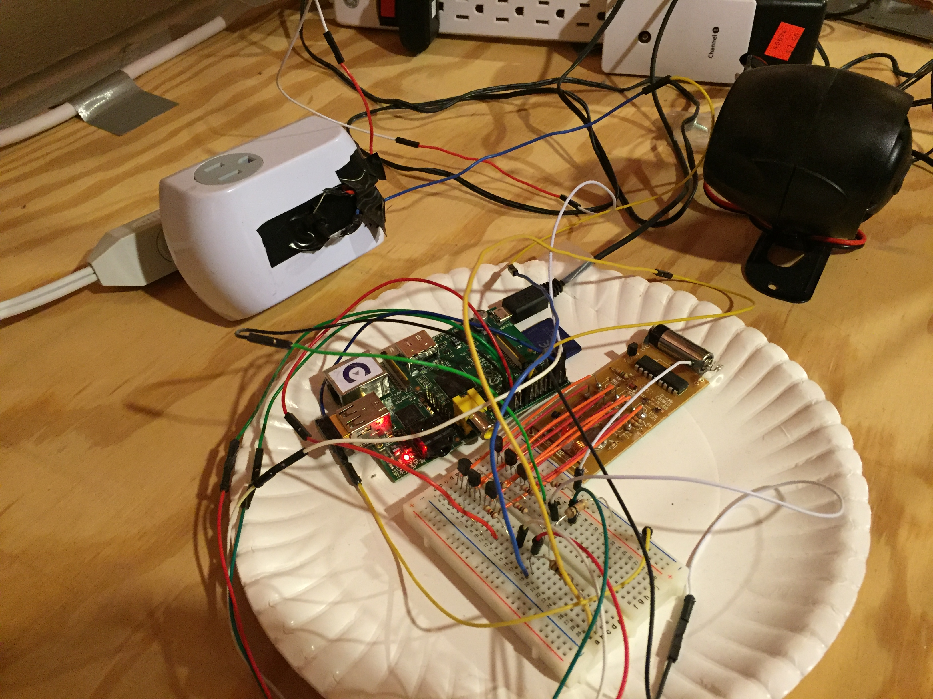 Caleb Madrigal Basic Structured Wiring Installation Adjacent To Security Panel Raspberry Pi Home System